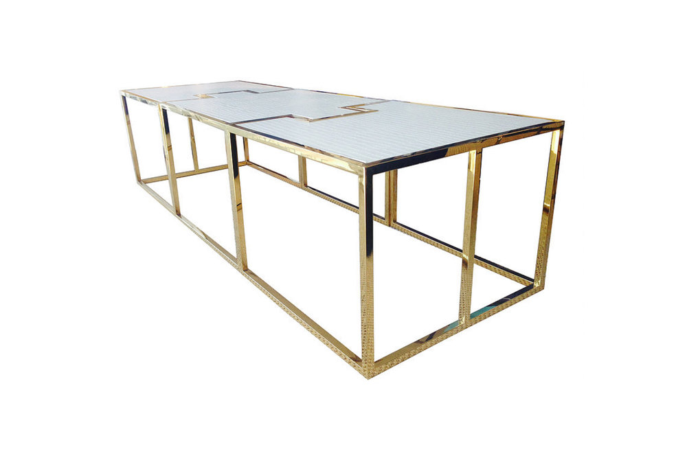 212-227 Puzzle Cocktail Table
